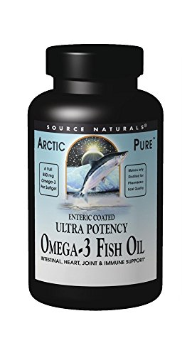 Source Naturals ArcticPure Omega-3 Fish Oil 850mg Ultra Potency EPA + DHA For Heart, Joint, Brain & Immune Health -Enteric Coated For Sensitive Stomachs - 30 Softgels