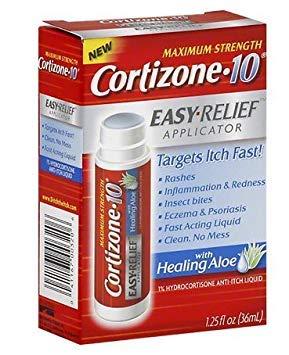 Cortizone 10 Hydrocortisone Anti-Itch Liquid, Easy Relief Applicator 1.25 fl oz (pack of 2)
