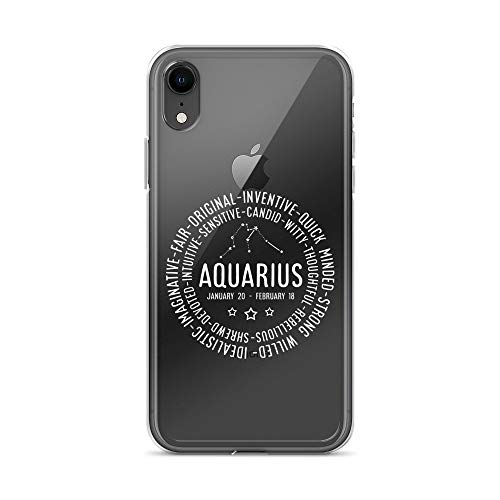 iPhone XR Pure Clear Case Crystal Clear Cases Cover Aquarius Zodiac Personality Star Sign Transparent