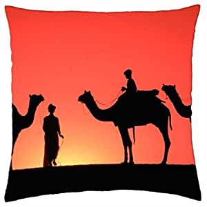 SUNSET SILOUETTE - Throw Pillow Cover Case (18