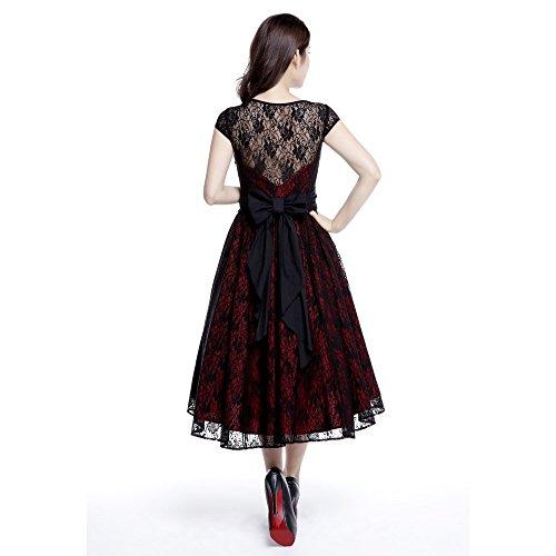 58 Kleid plus 40 schwarze Star 44 38 Chic 52 Rote 36 60 Lace Größen und 46 54 UK 56 42 Baumwolle Standardgrößen 50 81n0wqxn