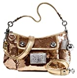 Coach Limited Edition Sequin Groovy Convertiable Shoulder Bag Purse 15381 Gold, Bags Central