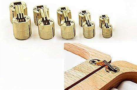 BE-TOOL Charni/ère invisible en cuivre pur pour bo/îte /à bijoux or lot de 4 plans de travail bo/îte cadeau