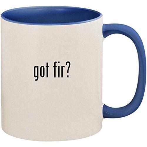 (got fir? - 11oz Ceramic Colored Inside and Handle Coffee Mug Cup, Cambridge Blue)