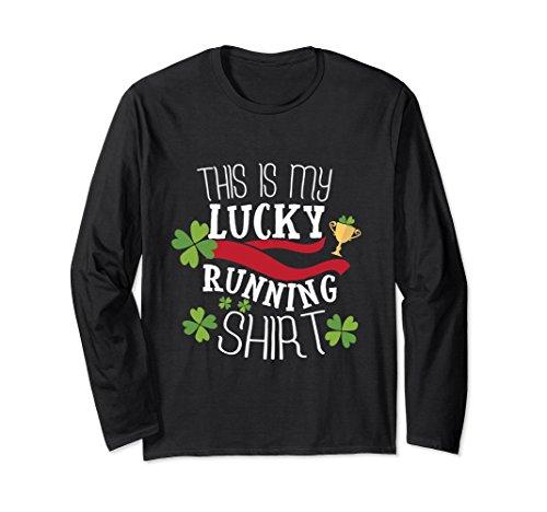 Race Day T-shirt (Unisex Green Irish Beer Lucky Running T-Shirt St Patricks Day Race Medium Black)