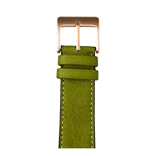 Roobaya | Premium Sauvage Leather Apple Watch Band in Moss Green | Includes Adapters matching the Color of the Apple Watch, Case Color:Rose Gold Aluminum, Size:38 mm by Roobaya (Image #1)