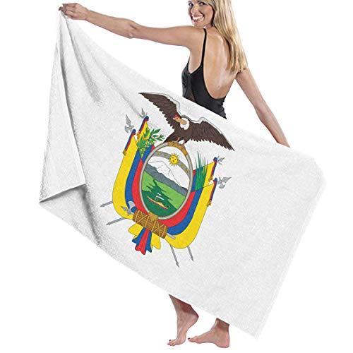 あなたは信号便利さビーチバスタオル バスタオル 旧エクアドル国旗の紋章 ビーチタオル 海水浴 旅行用タオル 多用途 おしゃれ White