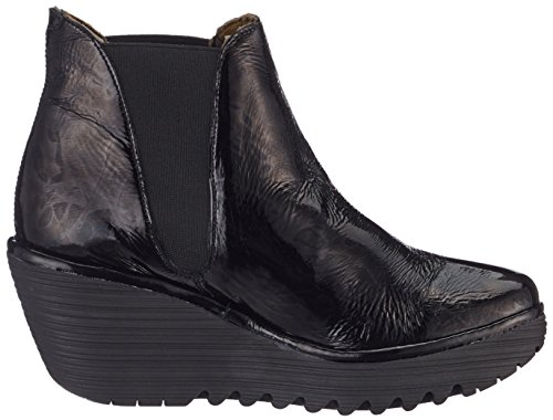 Fly London Yoss, Stivali Donna Nero (Black)