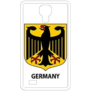 Germany - Country Coat Of Arms Flag Emblem White Samsung Galaxy S4 i9500 Cell Phone Case - Cover