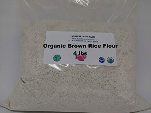 Brown Rice Flour 4 Pounds Organic USDA Certified, Non-GMO Bulk
