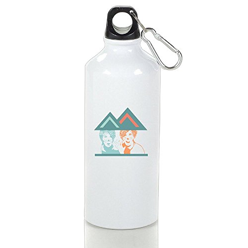 White In The House Triangle ZQND Aluminum Outdoor Sports Bottle 16oz Unisex Printed On Both Sides