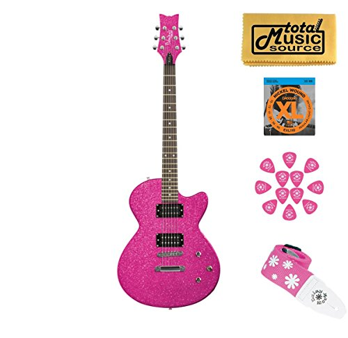 DAISY ROCK Debutante Rock Candy Atomic Pink Electric Guitar, 14-7751 Debutante Rock Candy Electric Guitar