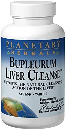 PLANETARY HERBALS Bupleurum Liver Cleanse, Supports The Natural Cleansing Action Of The Liver, 300 Count, 545MG