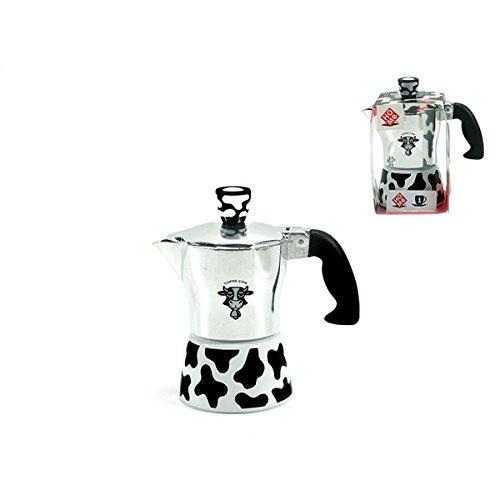 Plata Home Vaca Cafetera de 1/Taza Aluminio 12/x 7/x 13/cm