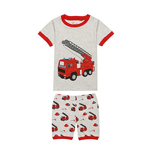 TinaLuLing 100 Cotton Summer Short Sleeve Boys Pajamas Sets Baby Sleepwear Infant Toddler Pyjamas Nightwear