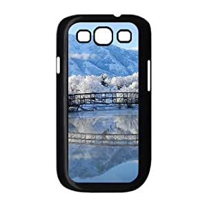 Yearinspace Art bridge in the forest Samsung Galaxy S3 Cases Winter bridge Protective Cute For Girls, Case For Samsung Galaxy S 3, {Black}