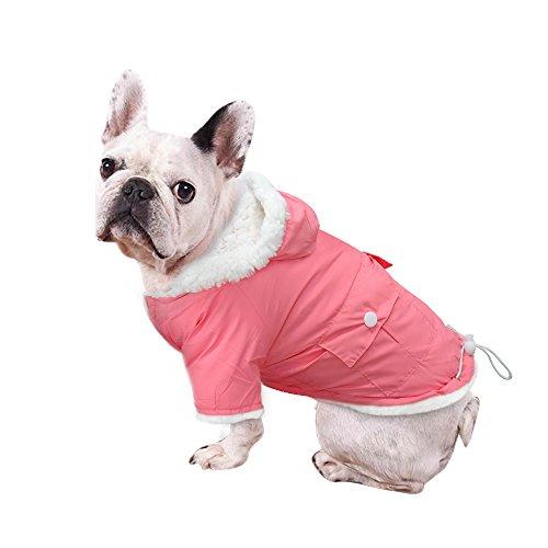 Windproof Waterproof Cold Weather Dog Coat - Doggie Puppy Vest Warm Pet Ski Jacket - Dog Apparel for Medium 9