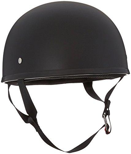 LS2 Helmets Stripper Unisex-Adult Half Helmet Motorcycle Helmet (Matte Black