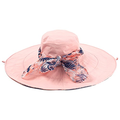 Visor Hat Female Summer Outdoor Sunscreen Seaside Beach Sun Hat,Adjustable Folding Large Double Sided Cotton Sun Hat, 4 Colors Optional (Color : (Optional Wiring)
