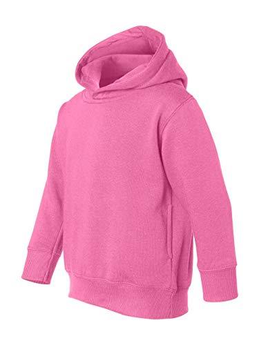 Rabbit Skins Toddler Hooded Sweatshirt Hoodie (Raspberry) (2T)