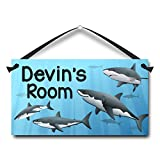 little boy room ideas Personalized Name Plaque, Sharks, Kids Bedroom Door Sign, Little Boy Room Decor