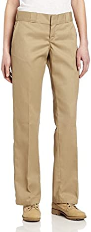 Dickies Women's Original Work Pant with Wrinkle and Stain Resist