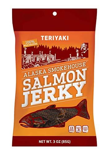 Alaska Smokehouse Teriyaki Salmon Jerky, 3-Ounce Bag