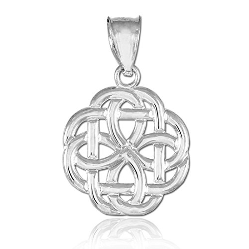 Celtique Pendentifs Femme Or Blanc 10K Trinity Charme pendentif celtique