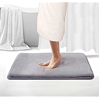"BLUE Memory Foam Bath Mat Rug: 17"" x 24"", Brick Design, Soft, Non Slip Backing (17"" x 24"" and 20"" x 30"" 2 Piece) 50%OFF"