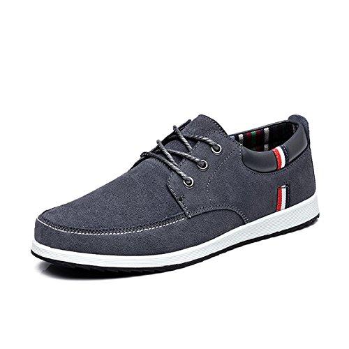 de Gamuza Mocasines Casual Mocasines Deportivos Primavera para Gris Cuero de Zapatos Botia de Hombres Mocasines Zapatos Náuticos ZvACqdw