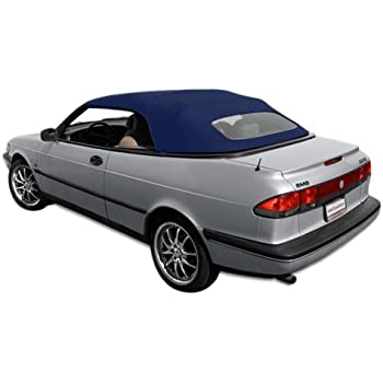 Sierra Auto Tops SAAB 1995-1996 900S/900SE Cabriolet Convertible Top, Stayfast Canvas, Blue