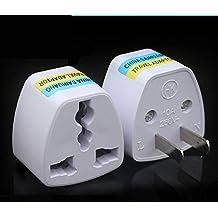 Two Flat Pin Plug Travel Adapter Universal Socket for USA, Canada, Japan, Peru, Cuba ...etc.
