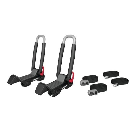 Yakima JayLow Folding J-Cradle Rooftop Kayak Rack with Tie-Downs