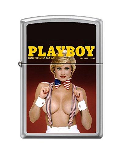 Zippo Playboy Cover July 1985 Pocket Lighter, High Polish Chrome