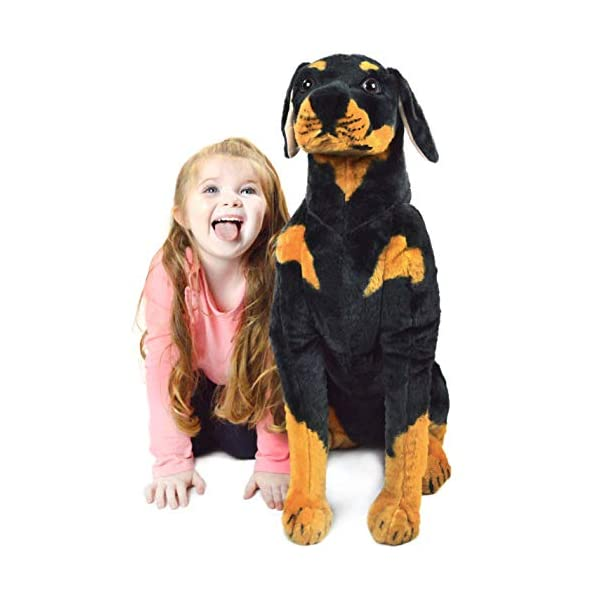 VIAHART Robbie The Rottweiler | 26 Inch Tall Stuffed Animal Plush Dog | Shipping from Texas | by Tiger Tale Toys 1