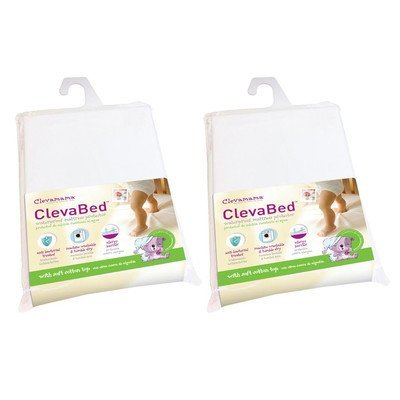 ClevaBed Brushed Cotton Waterproof Fitted Mattress Protector (Set of 2) Size: Crib by Clevamama