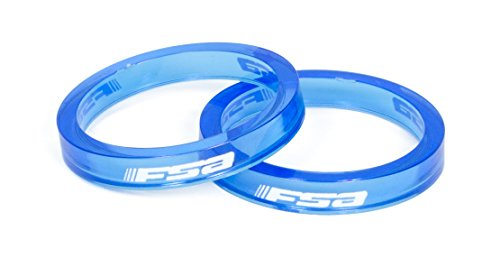 FSA PolyCarbonate Headset Spacer-Pack of 10 (1-1/8-Inch x 5mm, Blue) - Full Spacer
