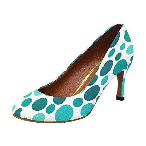 InterestPrint Womens Classic Fashion High Heel Dress Pump Polka Dot Pattern