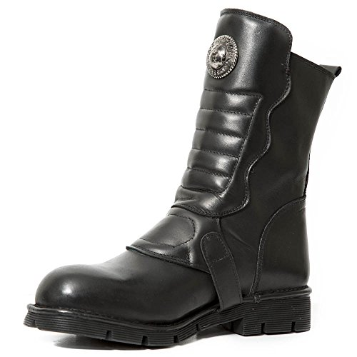New Boots Mens Rock Crust Leather Black IPPpxqvWwr