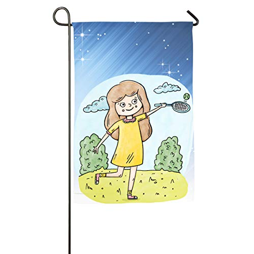 Shenigon Yeah I Play Like A Girl (Tennis) Home Family Party Flag 101 Hipster Welcomes The Banner Garden Flags