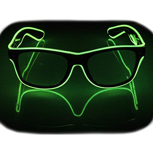 - Glow Eye Glasses masks LED Light Up Glasses El Wire Glowing Party Rave Glasses For Halloween Luminous Night Costume Parties