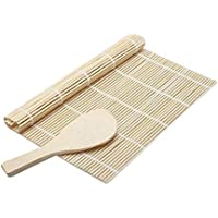 Simple wind sushi bamboo pad roller pad and wooden spoon production of rice tools, Japanese cuisine configuration