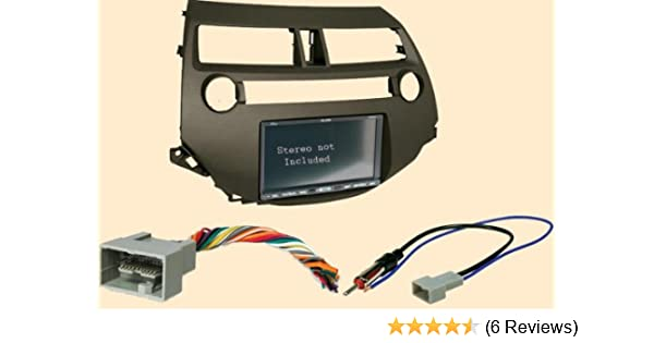 [SCHEMATICS_4ER]  Amazon.com: Carxtc Stereo Dash Kit + Wire Harness + Antenna Adapter Fits Honda  Accord 08-12 Crosstour 10-12 Earth Taupe Color - Works in Accords W/Out  Factory Navigation and has a Single Climate | Honda Accord Dash Wiring Harness |  | Amazon.com