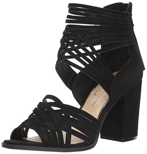 Jessica Simpson Women's Reilynn Heeled Sandal, Black, 6.5 Medium US JS-REILYNN