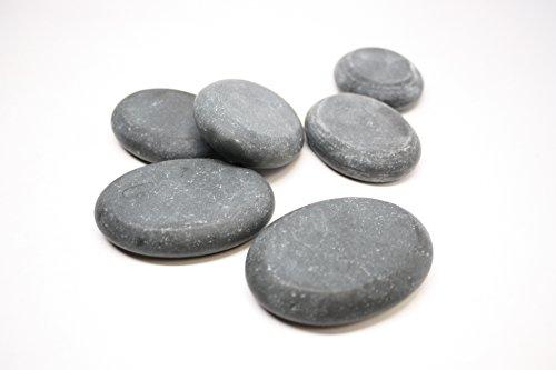 Professional Large Massage Stone Set Basalt Hot Rocks Stones Oval Shape, 3 In 2.5 In (Basalt Rocks)