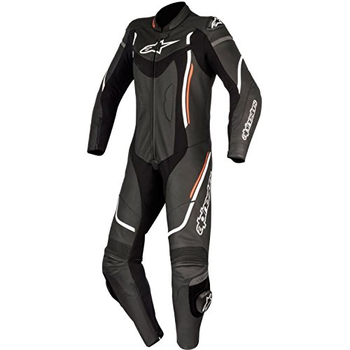 Alpinestars Motegi V2 Women's 1-Piece Street Motorcycle Race Suits - Black/White/Red / 38 ()