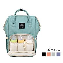 Lemonda Multi-Function Waterproof Diaper Bag Travel Backpack Nappy Bags for Baby Care, Large Capacity, Stylish and Durable (Cyan)
