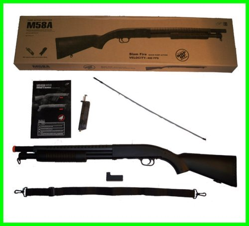 BBTac Airsoft Shotgun BT-M58A Pump Action Airsoft Gun High Performance 350 FPS