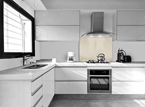 Compra Vidriopanel Panel DE Vidrio A Medida Cocina/Cristal de Protección Salpicaduras para frentes de cocinas (Fabricado A Medida, Crema) en Amazon.es