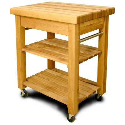 Mid-Size French Country Work Center - Country Butcher Block